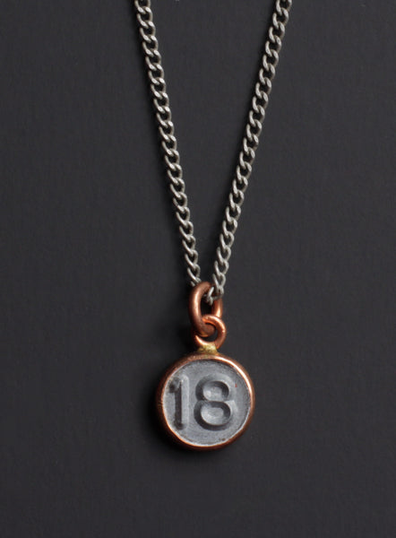 number 18 pendant