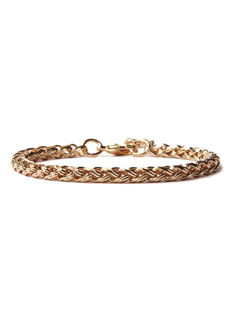 """Rope"" Gold Chain Bracelet for Men"