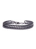 """Rail"" Gunmetal Chain Bracelet for Men"