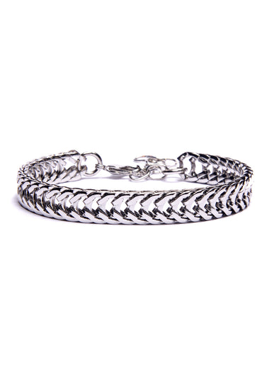 """Rail"" Silver Chain Bracelet for Men"