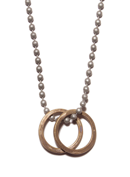 Brass rings pendant