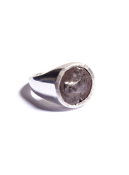 Ancient Greece. Thracian Chersonesus Silver Ring for Men