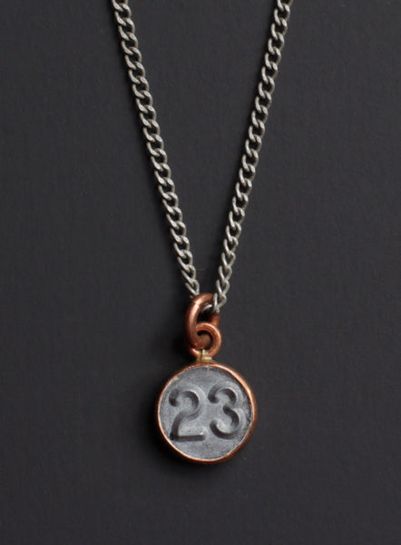 "number ""23"" necklace"