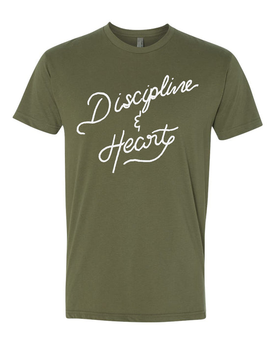 Discipline & Heart short sleeve men's t-shirt