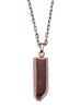 Quartz necklace for men