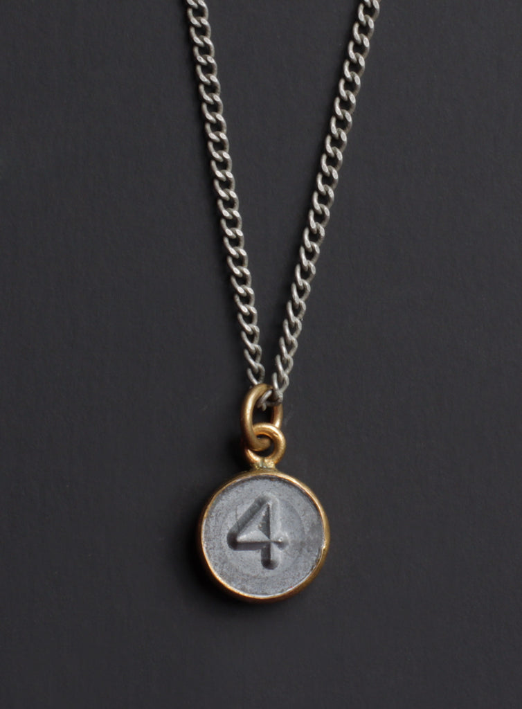 Greatest Number 4 pendant Men's Necklace – WE ARE ALL SMITH: Men's Jewelry  JW25