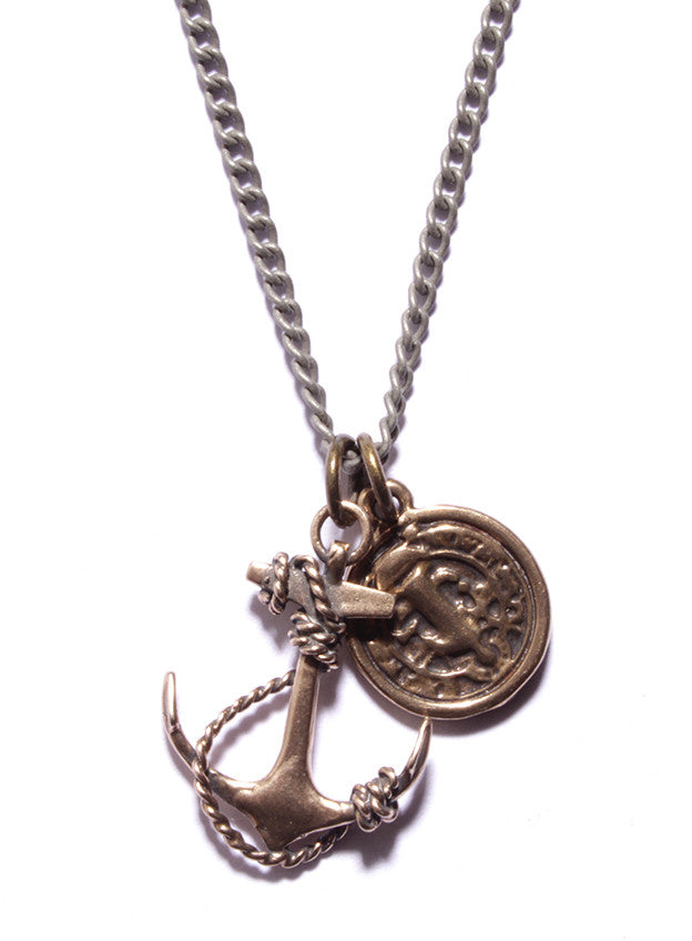 """Guardian"" Necklace. Anchor and Medal necklace for Men."