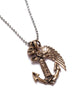 "The ""Courage"" Necklace. Skull, anchor and wing necklace for Men."