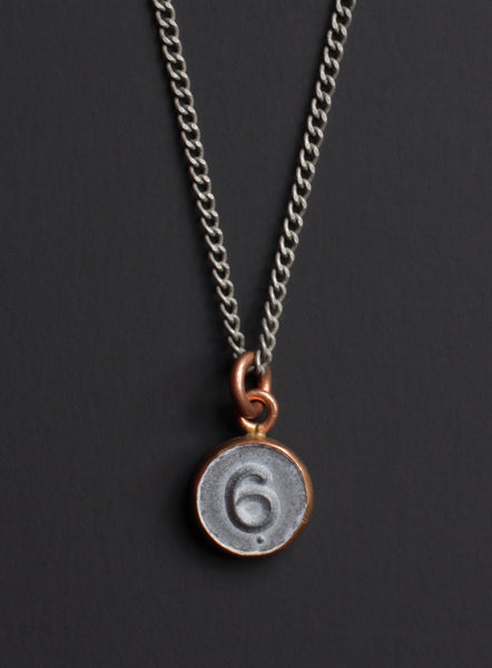 Number 6 necklace