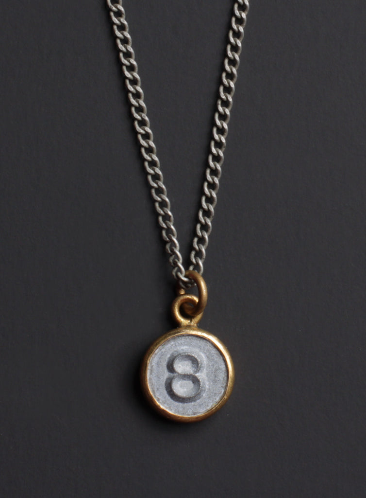 Number 8 necklace for men