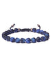 Matte Blue Tiger Eye Bead Bracelet for Men