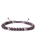 Bronzite and Silver Beaded Men's Bracelet