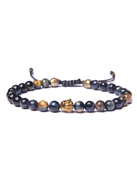 Golden Tiger Eye and Buddha Bead Bracelet for Men