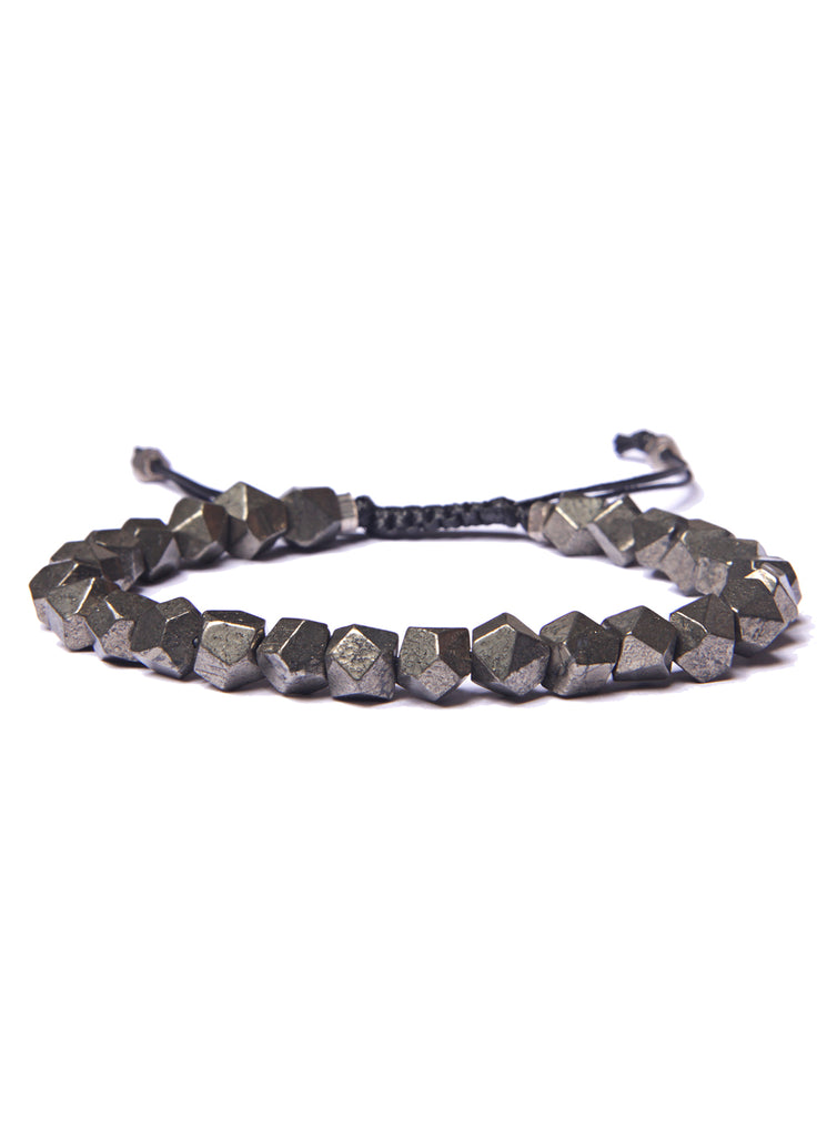 Pyrite Bead Bracelet for Men