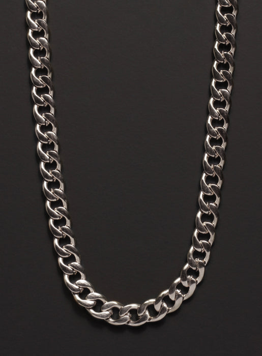 7mm Stainless Steel Curb Chain Necklace for Men