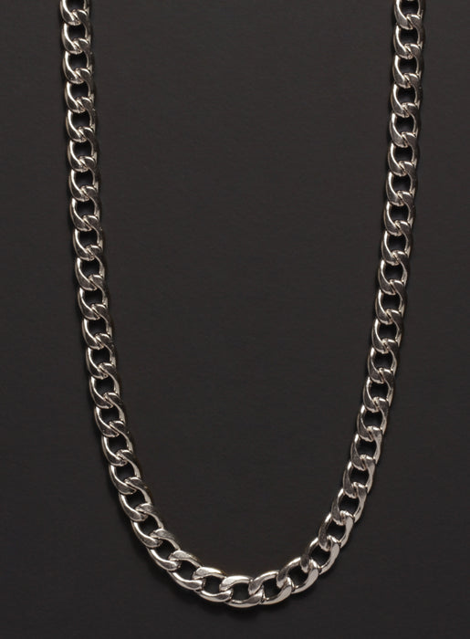 5mm Stainless Steel Curb Chain Necklace for Men