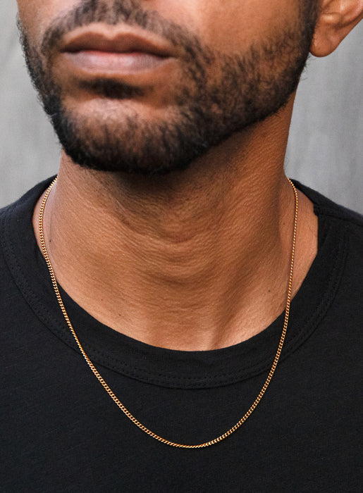 Vermeil Gold / 14K Gold Filled Necklace Set for Men