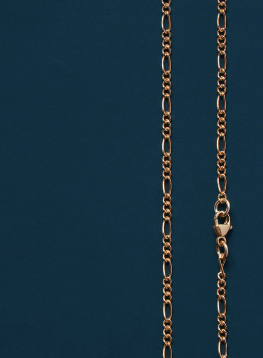 2.2mm 14k Gold Filled Figaro Chain Necklace for Men