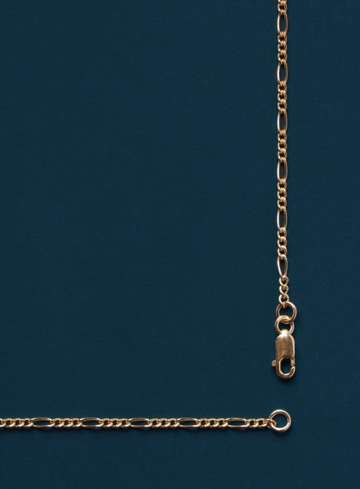 1.8mm 14k Gold Filled Figaro Chain Necklace for Men