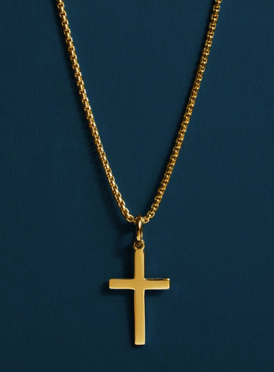 14k Gold Filled and Vermeil Gold Cross Necklace for Men