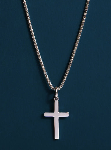 Sterling Silver Cross Necklace for Men