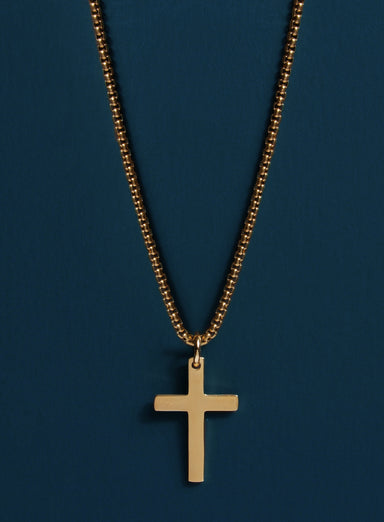 Minimalist Gold Stainless Steel Cross