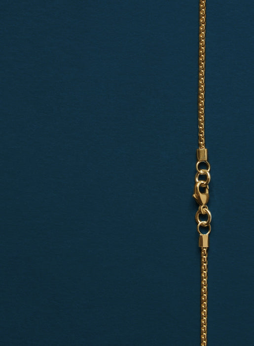 14K Gold Filled Round Box Chain Necklace for Men
