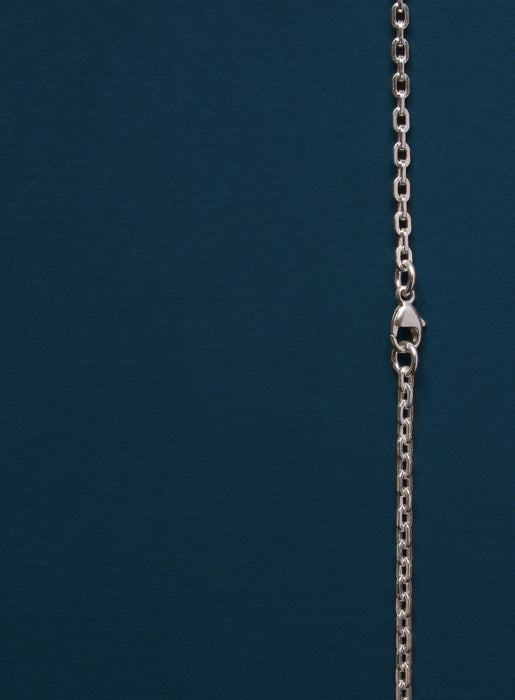 Sterling Silver Cross Necklace for Men (Cable)