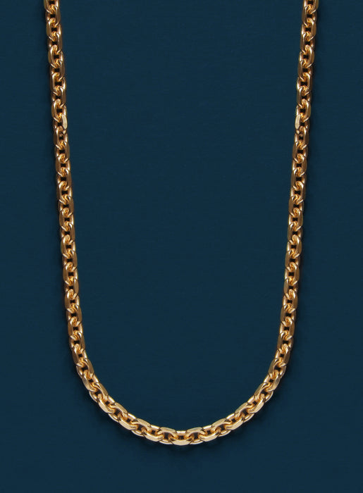 Gold Plated Cable Chain Necklace for Men