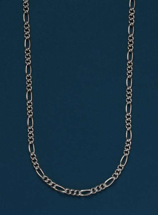 2.2 mm Sterling Silver Figaro Chain Necklace for Men