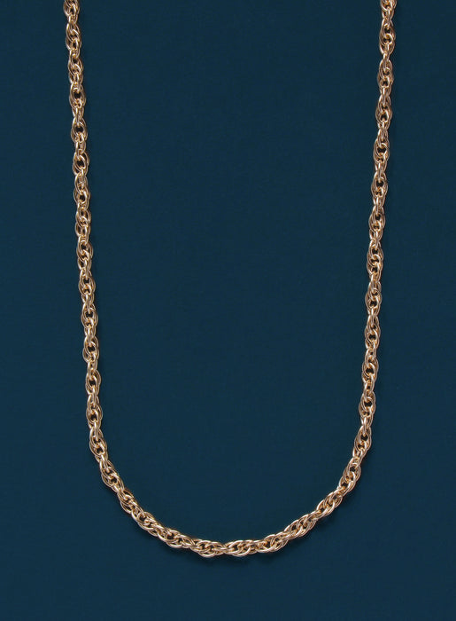 14k Gold Filled Rope Chain Necklace for Men