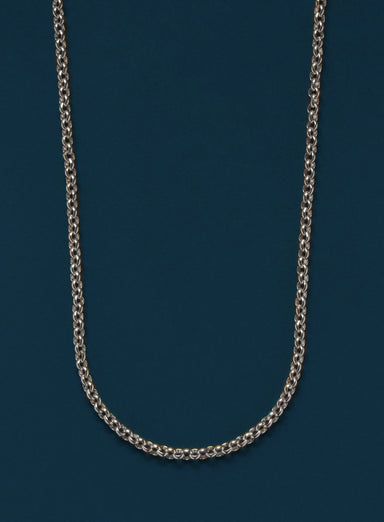 925 Sterling Silver Rolo Chain Necklace for Men