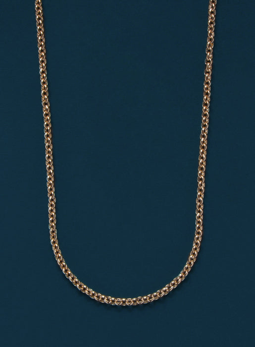 14k Gold Filled Rolo Chain Necklace for Men