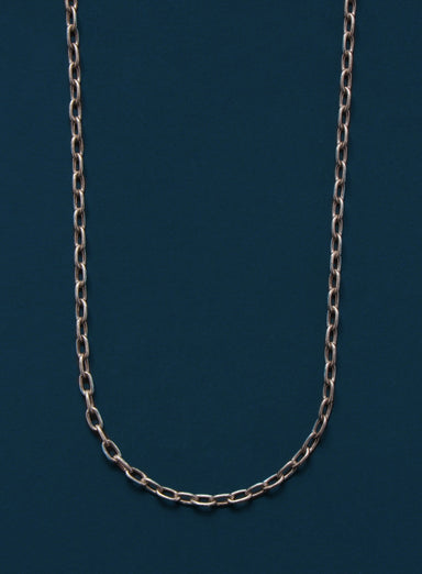 Oxidized Sterling Silver Cable Chain Necklace for Men