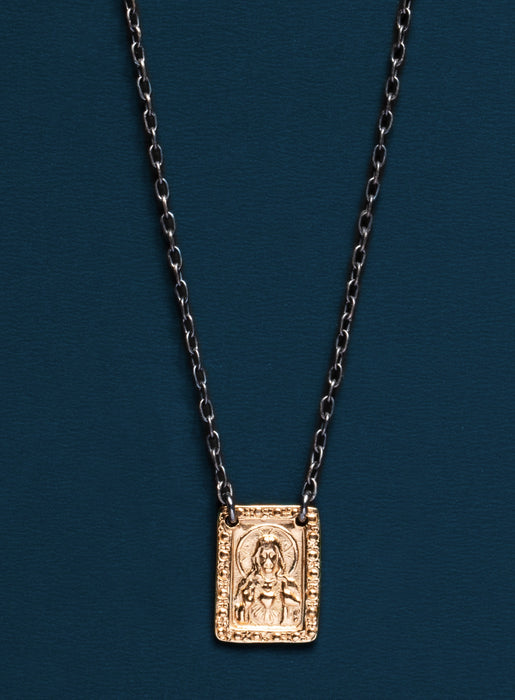 Sacred Heart of Jesus Scapular Necklace for Men