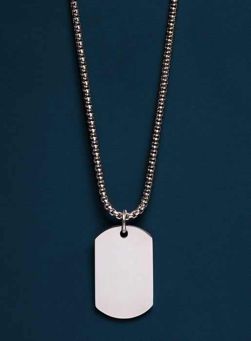 Stainless Steel Dog tag Necklace For Men