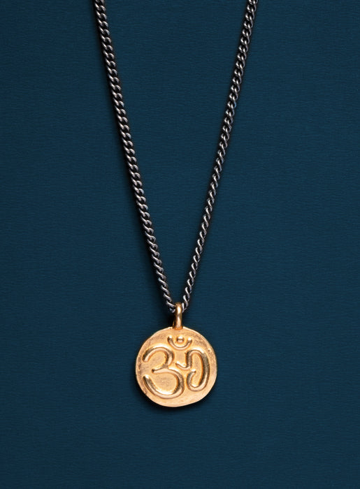 Vermeil Gold Om Necklace for Men