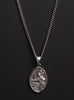 Sterling Silver St. Christopher Medal Necklace for Men