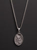Guardian Angel and St. Michael No. 2 Sterling Silver Medal Necklace for Men