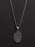 Pray for Us Sterling Silver Medal Necklace for Men