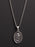Lady of Guadalupe Sterling Silver Medal Necklace for Men