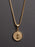 Gold St. Benedict Medal Men's Necklace (SMALL)