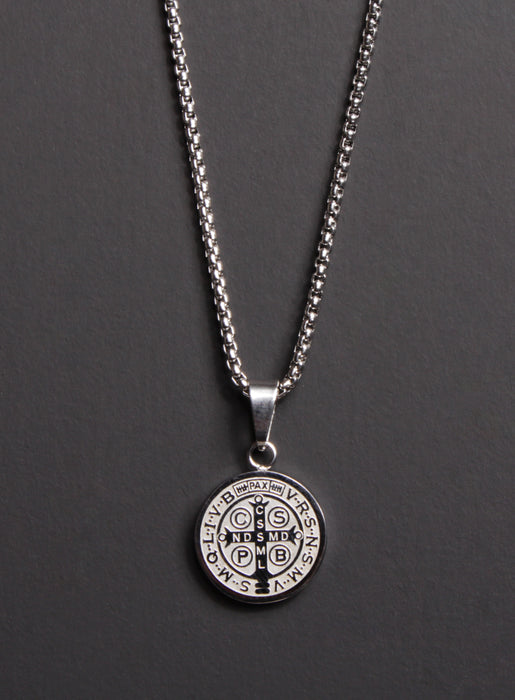 St. Benedict Medal Men's Necklace (SMALL)