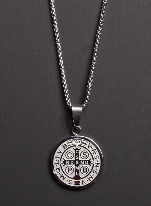 St. Benedict Medal Men's Necklace (LARGE)