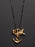 Heart + Anchor + Humming Bird Gold/Silver Men's Necklace