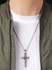 Large Stainless Steel Crucifix Men's Necklace