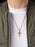 Small Gold Crucifix Men's Necklace