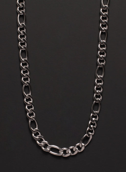 6mm Stainless Steel Figaro Chain Necklace for Men
