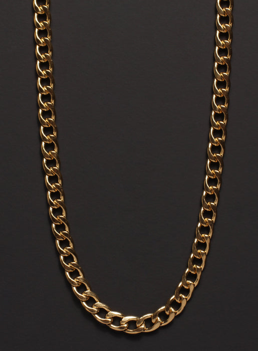 5mm Gold Curb Chain Necklace for Men