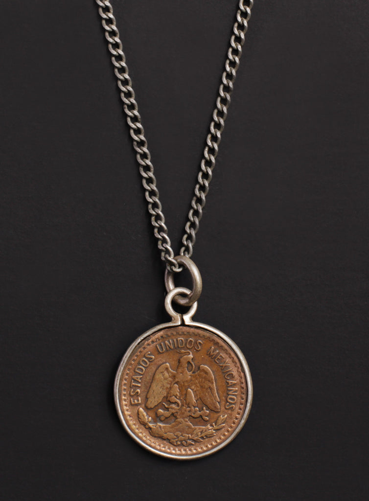 Vintage 1937 Mexican coin necklace